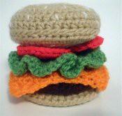 Crochet Cheeseburger Pattern
