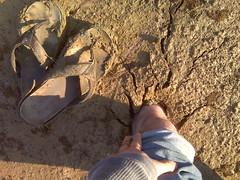 So, Chris is stuck in some mud... (Clevergrrl) Tags: georgia mud stuck augusta quicksand clarkshill thurmondlake