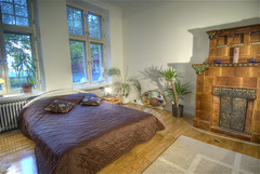 Master Bedroom (wili_hybrid) Tags: autumn urban plants fall home architecture finland geotagged carpet mirror photo yahoo high bed helsinki bedroom nikon fireplace europe flickr european dynamic photos interior picture pic september indoors wikipedia imaging inside nordic walls d200 scandinavia mapping 2008 range geotag tone hdr scandinavian hdri masterbedroom albertinkatu punavuori photomatix nikond200 tonemapped tonemapping highdynamicrangeimaging year2008