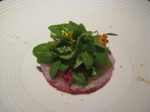 L2O, Chicago: Lamb Tartar, Ebi Shrimp