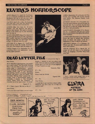 The Elvira Examiner volume III page 6