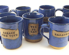 Muggin' for Barack! (LaPellaPottery) Tags: cup election yes can we mug vote obama barack