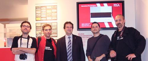 Inauguración Sala Ciutat: Barcelona Photobloggers y el Alcalde de Barcelona Jordi Hereu i Boher