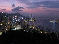 Afterglow of Victoria Harbour (fung1981) Tags: hongkong harbor twilight harbour victoria  magichour nightfall afterglow neonlight victoriaharbour victoriaharbor     braemarhill