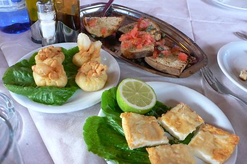 Mezes in a Greek Taverna