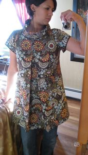 Downtown DIY Sewing-Tunic in AB fabric