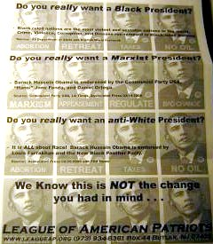 racist anti-Obama signs in Bethlehem, PA