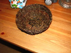 nov 035 (sarahracha) Tags: green spiral basket recycled woven coil weave plasticbags plarn