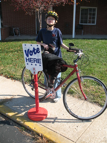 I bicycle and I vote!