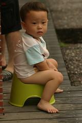 湯圍溝公園:Min在公園旁自備馬桶
