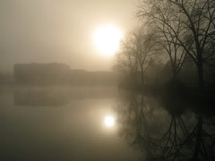 Sun Fog (photon_de) Tags: desktop light wallpaper sun lake reflection nature water fog bblingen g9 anawesomeshot platinumheartaward