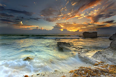 Trade Winds - Isla Mujeres, Mexico (Near Cancun) (PatrickSmithPhotography) Tags: ocean travel sea wallpaper vacation sky seascape beach gulfofmexico clouds sunrise landscape mexico paradise searchthebest hurricane wave atlantic 5d cancun islamujeres quintanaroo 1740l topf1000