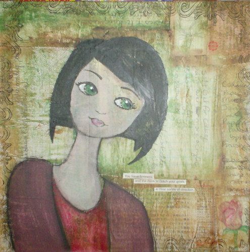 Mixed Media Self-Portrait
