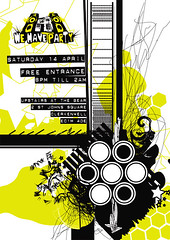 We Have Party Flyer (Demuzi) Tags: abstract illustration logo graphicdesign flyer branding danceevening wehaveparty