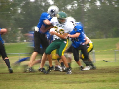 Oldest Son being Tackled