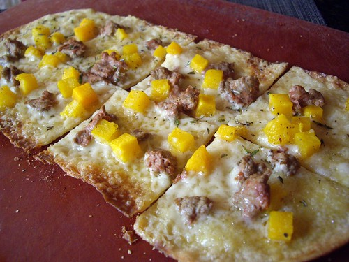 Lamb Sausage-Butternut Squash Flatbread at Latitude 41