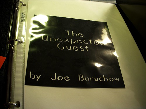 The Unexpected Guest, a cut paper story book