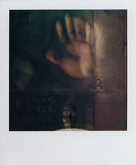 The New Deal (futurowoman) Tags: sculpture usa america polaroid sx70 washingtondc hand fdrmemorial basrelief newdeal hamsa robertgordon artistictz