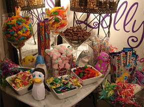 whimsical candy buffet