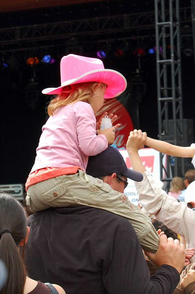 Cow Girl in Pink