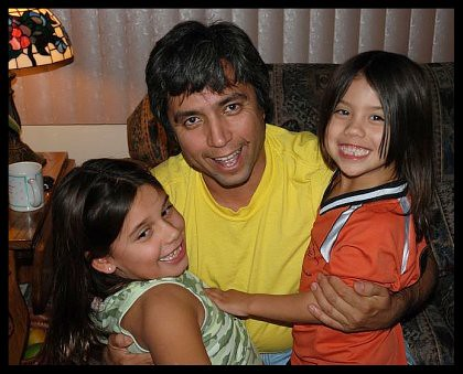 Martin & his girls (nieces)