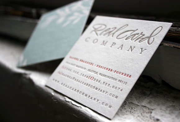 Letterpress business cards, bamboo paper - Smock