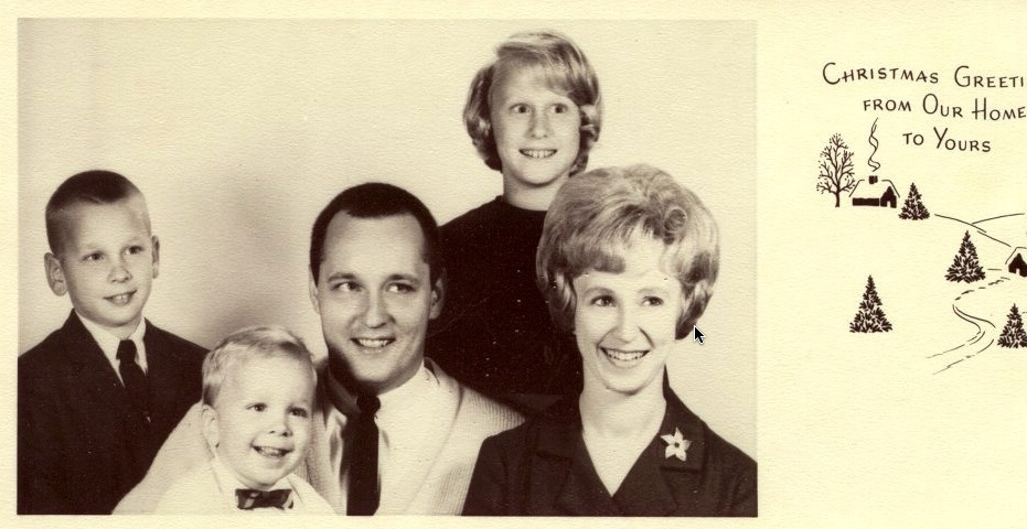 Family Christmas Card 1966