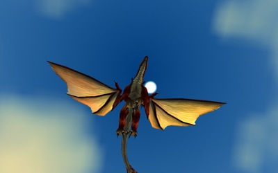 Red Drake From Below