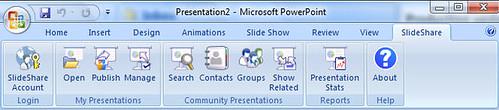 SlideShare Ribbon for PowerPoint