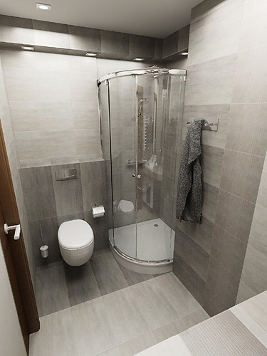Bathroom design  in private apartament, Krzeszowice near Cracow, by InsideLab