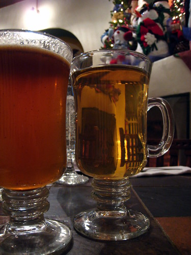 Hot buttered rum and a hot toddy.... yummm