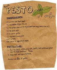 Recipe for vegan pesto
