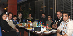 A Small Gathering of Flickr Members in Tehran (eshare) Tags: persian nightshot iran meeting persia gathering iranian groupphoto tehran  gettogether iranians teheran persians   flickrites flickerites flickies  sonyalphadslra100    sal20f28   flickr:user=vathlu 100 sonyalpha20mmf28lens 2028  blueduckrestaurant  tandiscenter