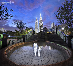Malaysia :My Twin Christmas Trees -  :-) (Ragstatic) Tags: christmas longexposure light urban white color tree architecture composition relax lights design nikon exposure dof nocturnal angle designer rags famous perspective calm structure explore architect malaysia serene kualalumpur kl depth nocturne dri klcc selamat stockphoto trulyasia d700 ciaomaster