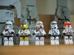 IMG_1539 (brickplumber) Tags: star wars custom clone clonetrooper fbtb minifigures commandercody commanderbly commanderneyo commanderbacara commanderfox