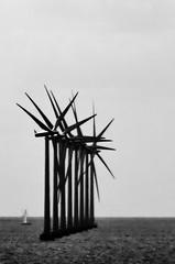 Dark future (nosha) Tags: ocean sea nature water windmill beautiful beauty sailboat copenhagen dark denmark photography coast boat photo nikon technology power wind apocalypse august photograph creativecommons 2008 f71 windpower lightroom kobenhavn scandanavia d300 200mm 18200mm nosha 18200mmf3556 nikond300 apocalypsedecadence