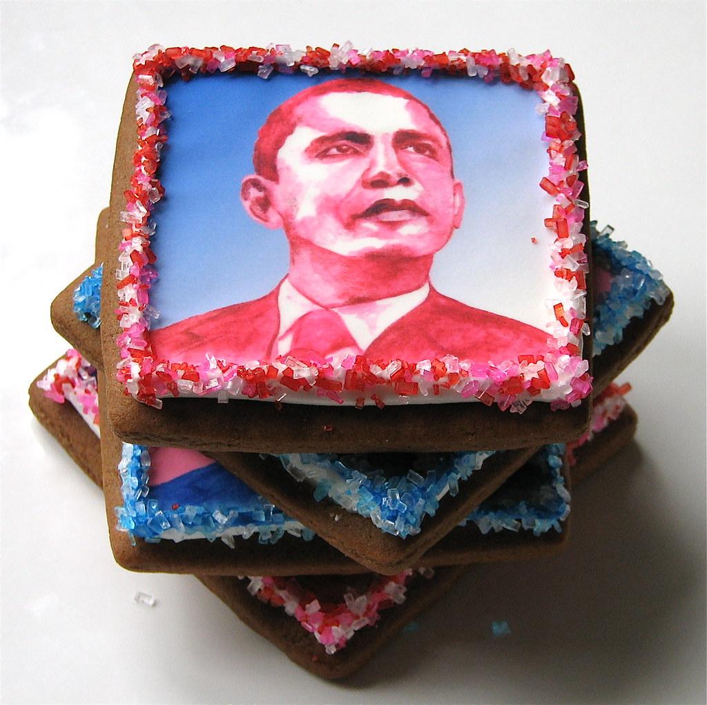 Barack Obama Portrait Cookies