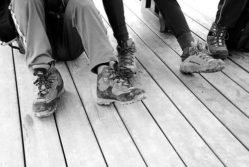 歷經風雨的登山鞋