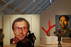 Chuck Close and Andy Warhol in the Mezzanine