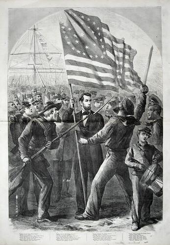 abarham linchon with flag