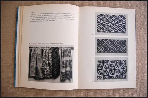 vintage book peeks: fabric printing