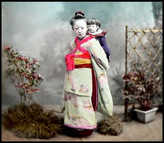 Collodion Emulsion (Wet Plate) Photo on Glass from OLD JAPAN (2)