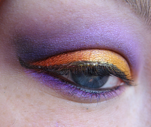 Shimmer Orange Purple Eyeshadow make up design