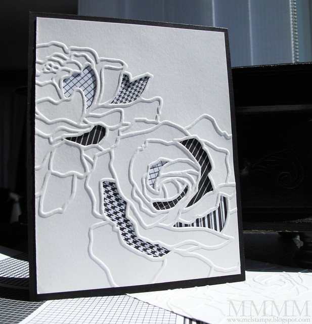 pressure embossing cut out
