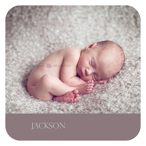 newborn photographer baby on beanbag