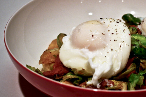 brussel sprout bacon & eggs