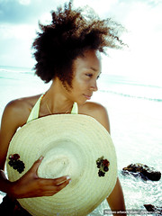 Fmi (floptwo) Tags: sea portrait woman sun mer black west beach girl beautiful hat lady port hair louis soleil model women afro femme carribean photographs chapeau caribbean plage guadeloupe antilles paille indies caribean gwada 971 caraibes photoshooting caraibe femi karukera