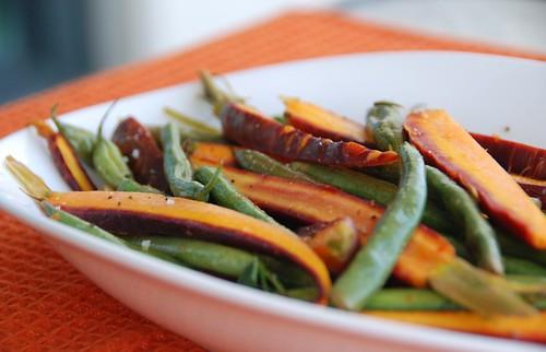 rainbow carrots n beans