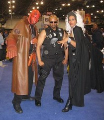 New York Comicon 2008: Hellboy, Blade & Storm (MorpheusBlade) Tags: storm costume cosplay blade hellboy daywalker nycomicon newyorkcomicon bladetheseries bladehouseofchthon newyorkcomicon2008 nycomicon2008