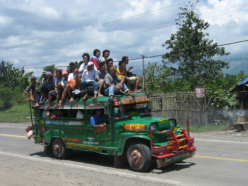 commuting, jeepney, Philippines, rural, transport jeep province rural transport people side pinoy filipino